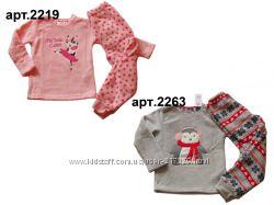 Теплые пушистые флисовые пижамки для девочек 18мес - 13лет, Англия