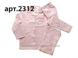Байковые пижамы для девочек 18мес - 7лет, Англия, Primark