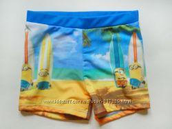 Плавки - шорты для мальчика с миньонами, Дисней, Primark