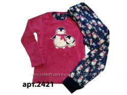 Теплые пушистые флисовые пижамки для девочек 128-166рост, Англия