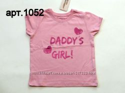 Очень красивые футболочки для девочек 9мес-2г