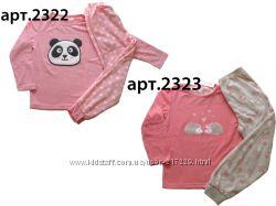 Теплые флисовые пижамки для девочек 80 - 158р, Англия