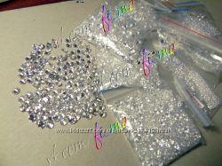 Фианиты цирконы конусные для дизайна ногтей и декора
