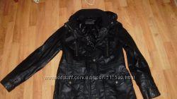 Стильная, удлиненная кожанная куртка South
