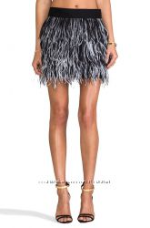Модные тенденции пух и перья. юбка из перьев страуса, Clockhouse