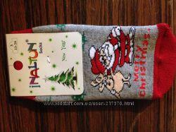 Новогодние махровые носочки для крохи