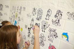 Самоклеющаяся декоративная детская 3D панель раскраска
