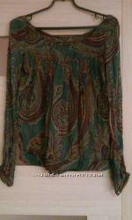 Блуза Zara натуральный шёлк. Размер S-M