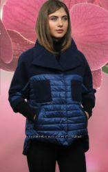Демисизонное кашемировое комбинированое пальто