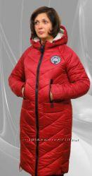 Модное зимнее стеганое пальто, большие размеры
