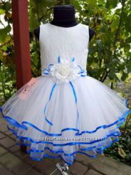 Праздничное бальное платье Небесная синива