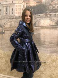 90ced921c5e Демисезонное пальто с пышной юбкой. цвета металлик