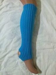 Гетры 40 см для танцев, гимнастики с вырезом для пятки.