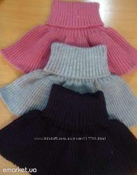 Манишки детские вязаные, более 40 цветов под заказ, шерсть и полушерсть.