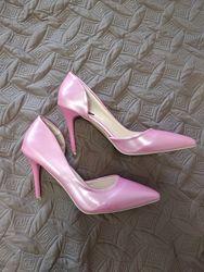 Стильные туфли лодочки, нежно-розового цвета с перламутром, размер 37