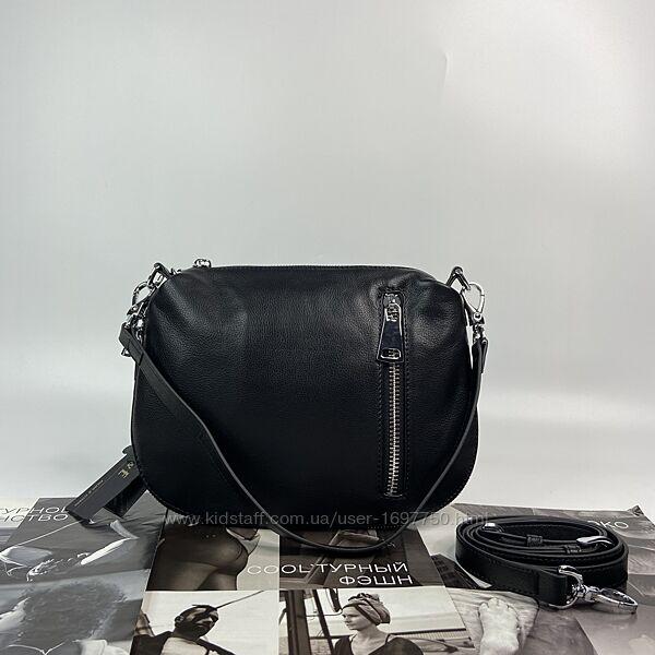 Женская кожаная сумка клатч через на плечо полина Polina & Eiterou жіноча