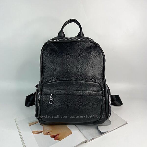 Женский кожаный городской рюкзак Farfalla Rosso жіночий шкіряний міський