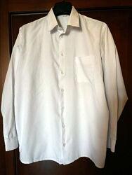 рубашка сорочка белая хлопок в отличном состоянии