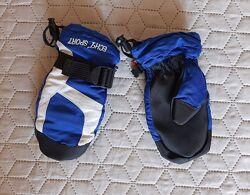 Зимние спортивные термо рукавички на флисе ECHT sport