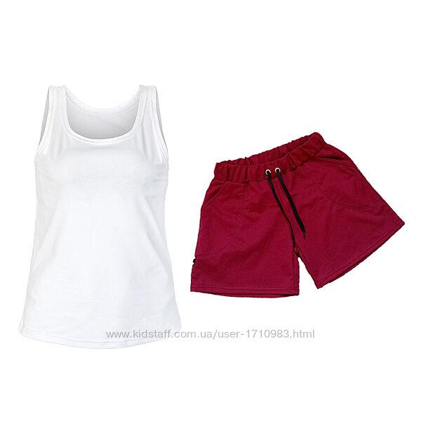 Женские летние комплекты майка и шорты. Хит продаж