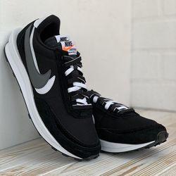 3129 Nike waffle sacai черные кроссовки найк мужские найки кросовки