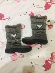 БУ зимові chiccо чобітки для дівчинки 30 розміри