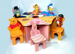 Комплекты детской мебели стол Ромашка со стульчиками от тм Даруся