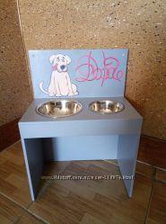 Подставка с мисками для кормления собак, кошек тм Даруся