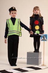 Детские игровые костюмы ГАИ, Пожарный, МЧС, Светофор, дорожные знаки