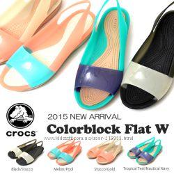 Стильные и необычные Crocs Colorblock - под заказ. Оригинал