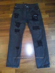 Рваные джинсы Levis высокая посадка