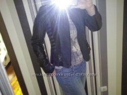 Комбинированная куртка джинскожзам 38М