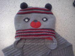 Замечательная шапочка и шарфик на ог48-52