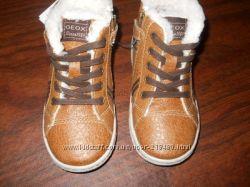 Geox демисезонные ботинки с искусственным мехом