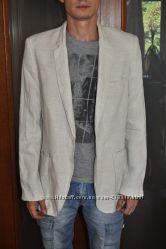 Летний бежевый пиджак Zara man