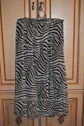 Длинная шифоновая юбка  размер 52-54