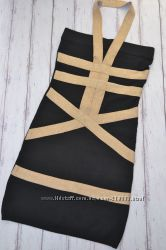 вискозное платье в бандажном стиле р. s-m