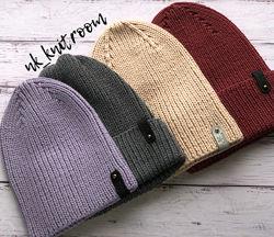 стильные шапки из мериносовой шерсти