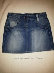Джинсовая юбка George для девочки 9-10 лет, рост 134-140 см