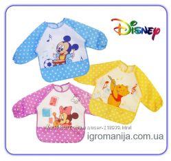 Disney Слюнявчик с рукаваминагрудник, для самостоятельного кормления или д