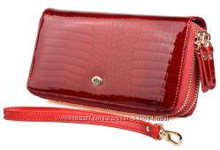 d54cbd92e5c9 Женский кожаный кошелек клатч ST на две молнии Разные цвета и модели