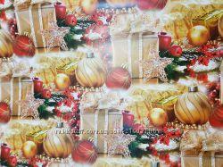 Бумага подарочная новогодняя