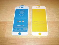 Премиум защитное закаленное стекло 9 D / 10 D на Iphone 6  6S 7 8 SE2