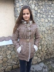 Зимние куртки из эко-кожи на тинсулейте Tafika -р. 155-162