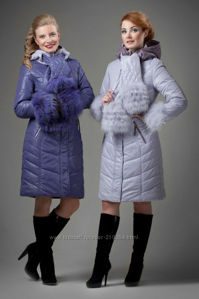 Зимнее пальто Tafika мех енот-р. 42 - распродажа