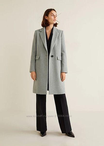 Пальто из шерсти Mango Испания-р. S, М