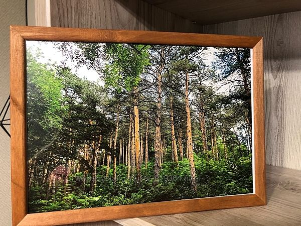 Деревянная фоторамка с фото