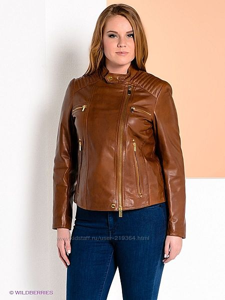 Женская кожаная куртка Мango Испания-р. наш 52