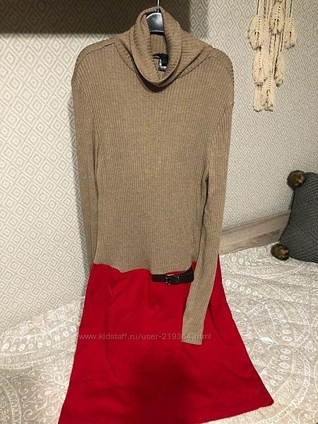 Комбинированное платье Mango Испания-р. наш 48