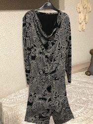 Платье с заниженной талией, шлевками для ремня
